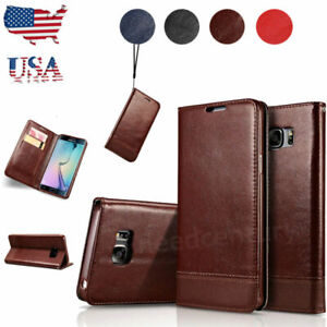 For-Samsung-Galaxy-S8-S9-Plus-Note-8-9-Leather-Flip-Wallet-Card-Case-Stand-Cover