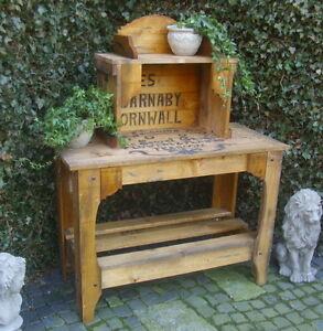 pflanztisch gartentisch antik landhausstil kisten design holz, Gartenarbeit ideen