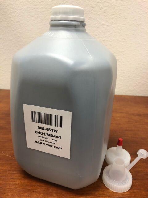 (1,000 g) Bulk Toner recharge pour OKI MB451W, MB451, B401, B401, MB441-sans puce