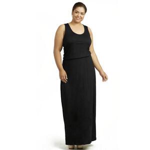 deb5431da8 Image is loading Womens-Plus-Size-Printed-Dress-Long-Maxi-Sundress-