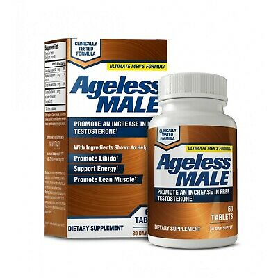 Ageless Male Free Testosterone Booster by New Vitality - NEW - 60 Tablets eBay