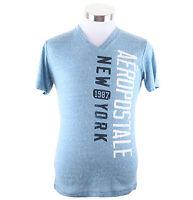 Aeropostale Men Short Sleeve V-neck Aero 87 Ny Graphic T-shirt Style 4759 $0ship