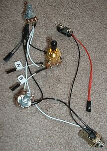 solderless ez install wiring kit for 2 active emg pu 1v1t. Black Bedroom Furniture Sets. Home Design Ideas