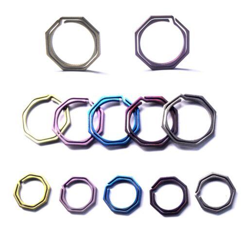 tool ring TC4 Ti Hook outdoor clip kit Keyring Octagon Titanium Buckle Keychain