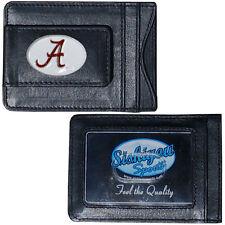 Alabama Crimson Tide Fine Leather Money Clip Card & Cash Holder NCAA Licensed
