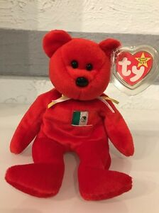 d1391c0a2af Osito  the Mexican Bear TY Beanie Baby - original NO number on tush ...