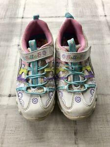 Details zu Skechers Bella Ballerina Schuhe Sneaker weiss Gr. 27 mit Drehscheibe