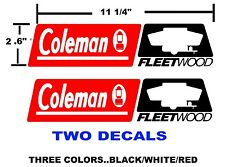 COLEMAN FLEETWOOD RV  DECALS stickers CAMPER  POP UP