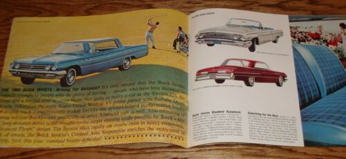 Original 1962 Buick Full Size Car Sales Brochure 62 Electra Invicta LeSabre