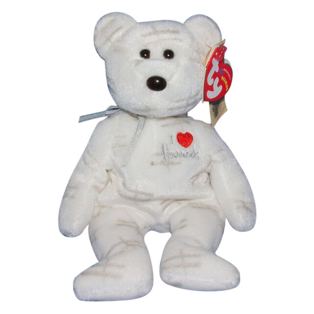 Ty Beanie Baby Shooting star - MWMT (Bear White UK Harrods Country Exclusive 200