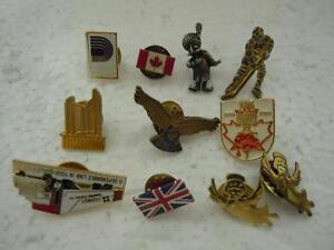 Pinback-Lapel-Lot-11-Vintage-Mixed-Unique-Collectibles-Sports-Eagle-Country