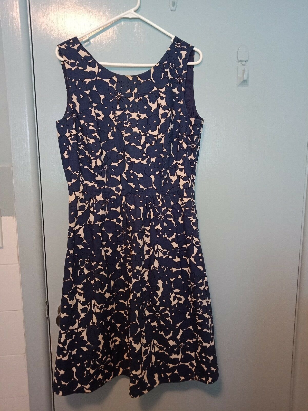 Sportscraft navy and white dress in size 12