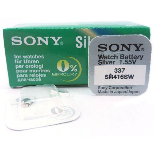 1,55V SR416SW 2x Pila Boton SONY 337