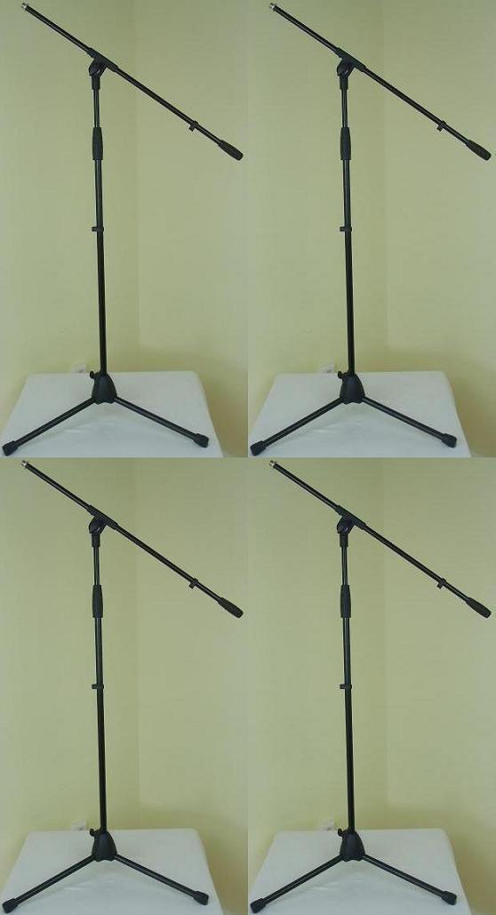 4x ADAM HALL Mikrofonständer ECO Mikrostativ Mirkofon-Stativ Galgen   Schwenkarm