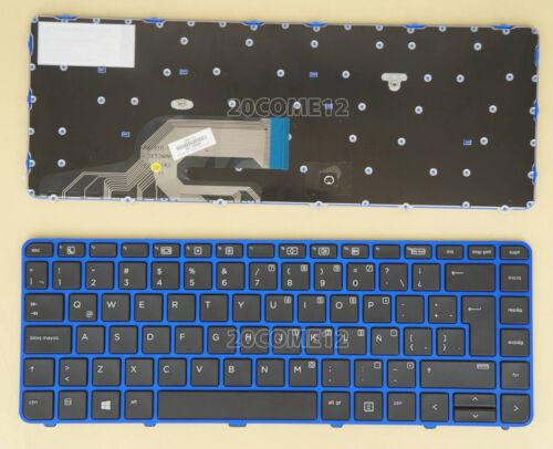 For HP Probook 640 G2 645 G2 Keyboard No Backlit no pointer Latin Spanish Blue