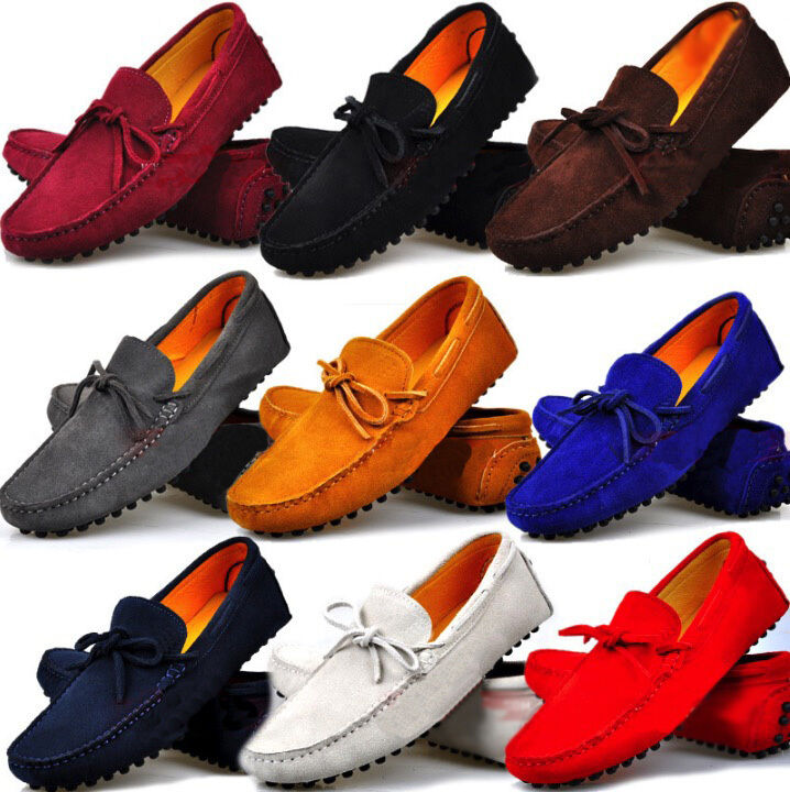 Fulinken Size 5-12 New Genuine Leather Slip On Driving Loafers Mens Casual shoes