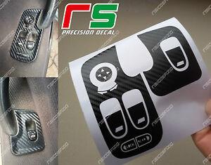 alfa-romeo-147-e-GT-ADESIVI-decal-leve-alzacristalli-sticker-cover-carbon-look