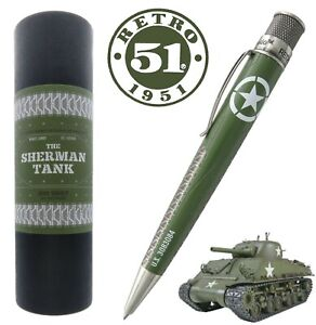 Retro-51-BSR-1955-Sherman-Tank-Big-Shot-Tornado-Rollerball-Pen