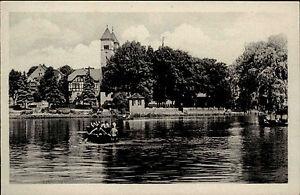 Bad-Klosterlausnitz-Thueringen-DDR-s-w-AK-1953-Partie-am-Schwanenteich-ungelaufen