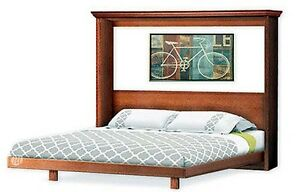 Murphy Horizontal Side King Wall Bed Frame Woodworking Plans