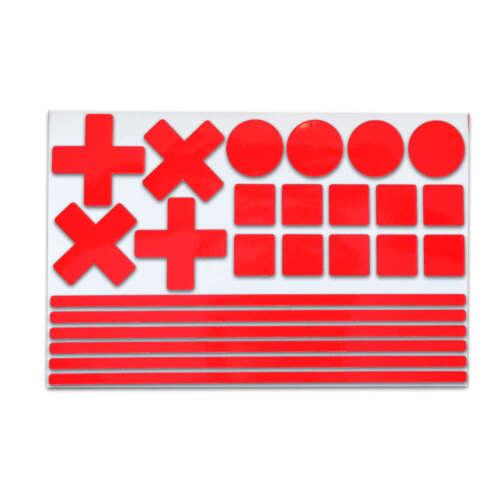 24 teilig Plus S Reflektierende Aufkleber Sticker als Set