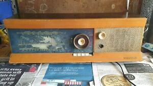 Vintage-Ferguson-388a-Valve-Radio-Damaged-Powers-On-1958-AM-FM-LW