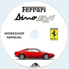 Workshop Manual Ferrari Dino 308 GT4,Istruzioni riparazione