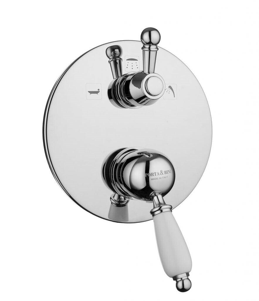 10532 Monocomando doccia incasso con deviatore tre uscite  NEW OLD PORTA E BINI