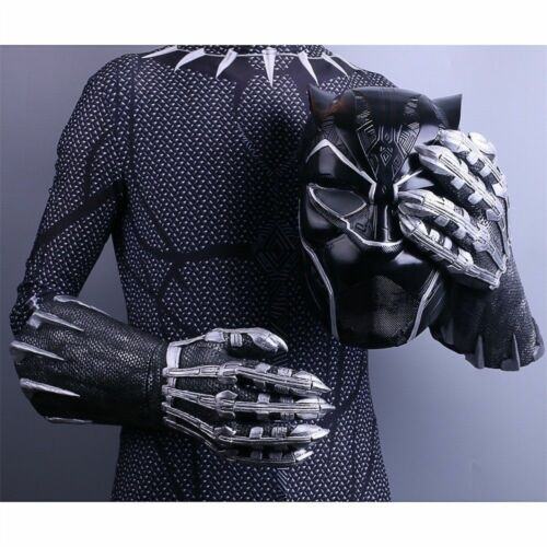 2018 New Black Panther Claws Gloves Cosplay Superhero Gloves Halloween Prop New
