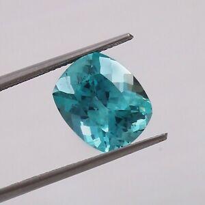 Natural Flawless Blue Green Montana Sapphire Loose Cushion Gemstone Cut 8.10 Ct
