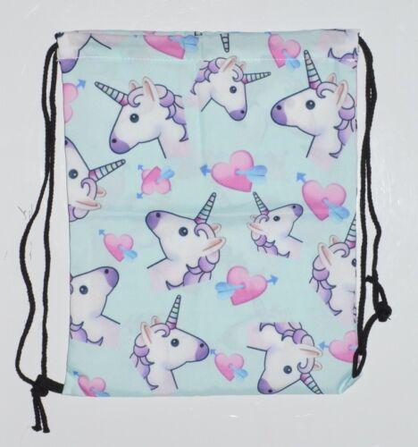A22 Unicorn Rainbow Emoji School PE Kit Swim Drawstring Bag Backpack Rucksack