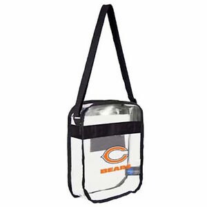 Image Is Loading Chicago Bears Clear Carryall Crossbody Plastic Bag Nfl