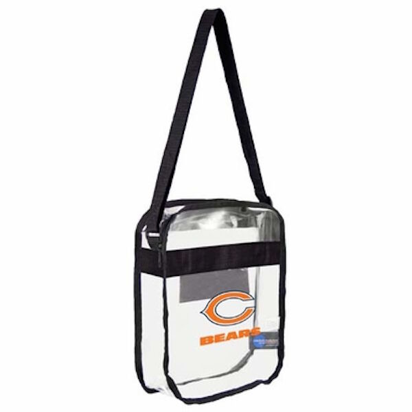 Little Earth Nfl Clear Carryall Cross Body Bag Chicago Bears