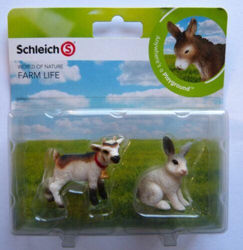 OVP Schleich  Farm Life Mini Spielset Hase und Ziege  Neu u