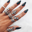 11-Pcs-set-Silver-Midi-Finger-Ring-Set-Vintage-Punk-Boho-Knuckle-Rings-Jewelry miniature 21