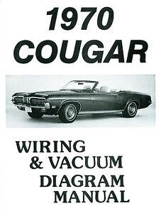 1970 cougar wiring diagram 1970 cougar wiring diagram /vacuum manual | ebay 71 cougar wiring diagram #2