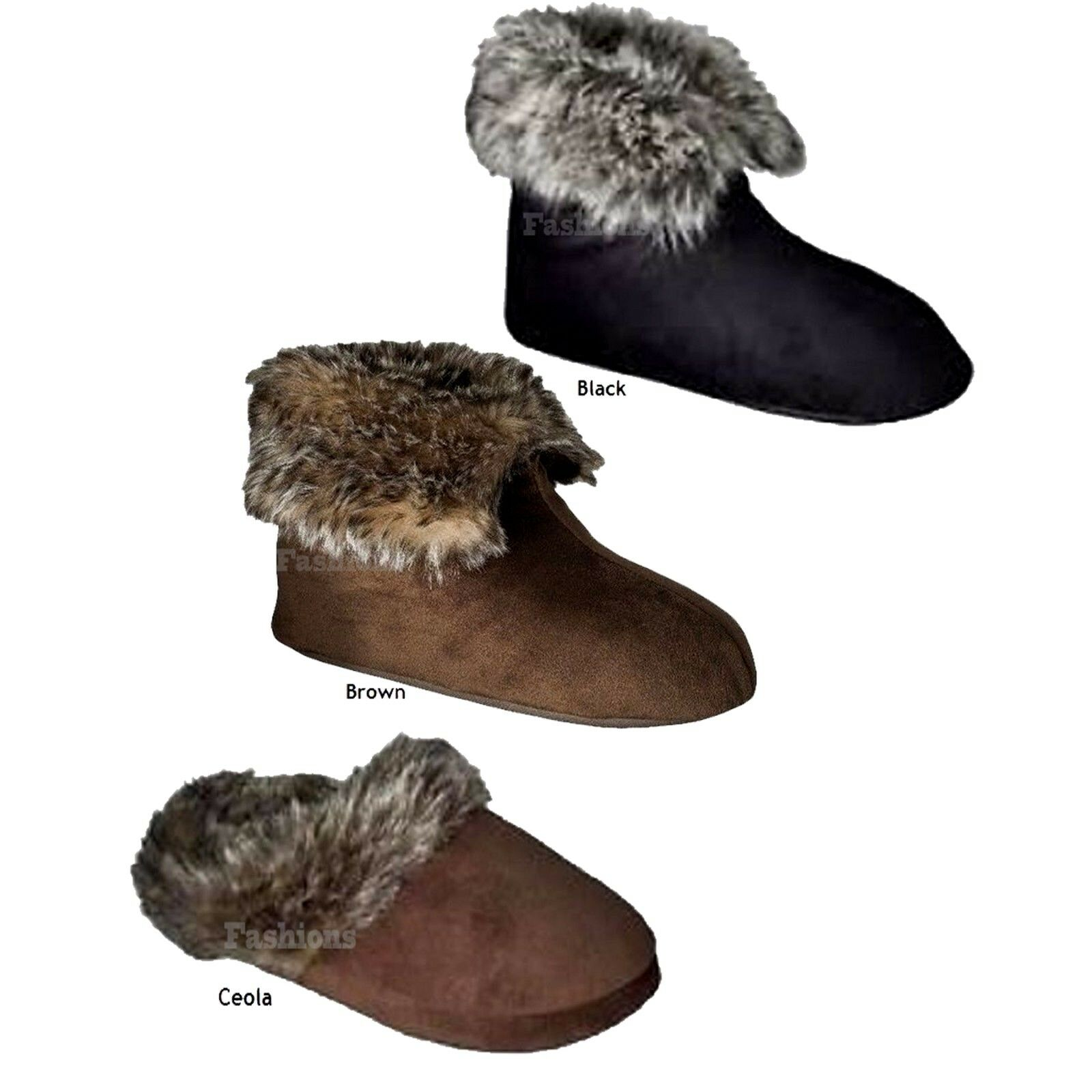 Choice Color /& Style Merona Charolette or Ceola Plush Faux Fur Slippers New NWOB