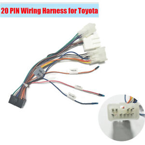 20 Pin Car Audio System Wiring Harness Connector Kit Plug and Play for  Toyota | eBayeBay