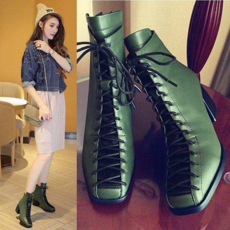 Womens Lace Up Cow Leather Ankle Boots Horsehair  Party Pumps Oxfords Shoes P736