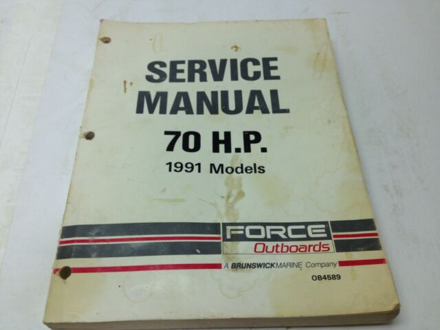 Force Outboards 70 Hp Service Manual 1991 Factory Oem