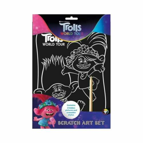 Trolls World Tour Scratch Art Activity Set