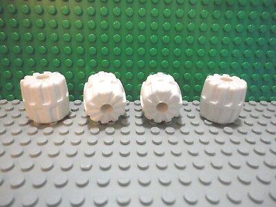 Lego 4 White small hard plastic tire