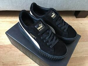 official photos 25629 2ae8f Details about Puma X Rihanna Fenty Creepers Suede Black and White UK5 6  EU38 39