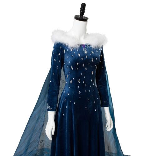 Frozen 2 Olaf/'s Adventure Princess Elsa Dress Cosplay Costume Fancy Dress
