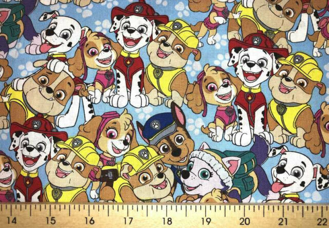 Dog Fabric Pup Nick Jr Rescue Dogs Nickelodeon Puppy Dog ...