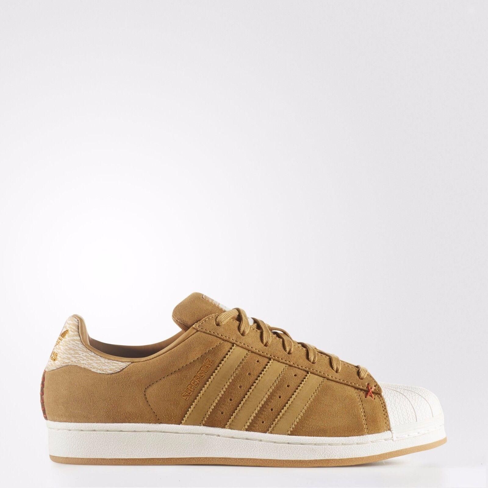 NIB Men's Adidas Superstar Originals Brown Suede B27574