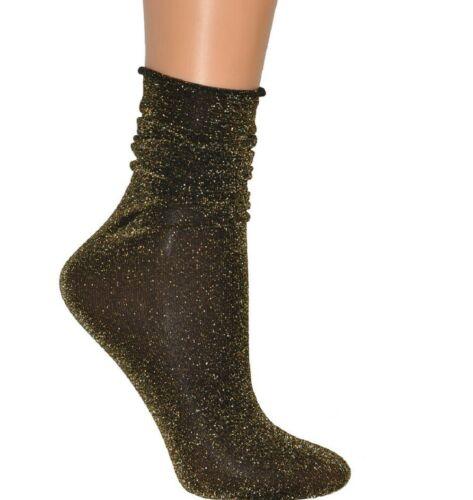 """Girls Womens Lurex Ankle Socks /""""Flavia/"""" Veneziana one size"""