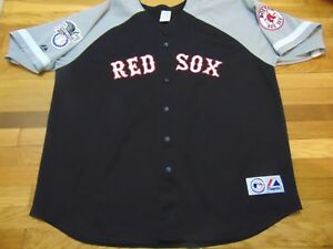 6c5424540 VTG MAJESTIC MLB BOSTON RED SOX JONATHAN PAPELBON BLACK GRAY JERSEY ...