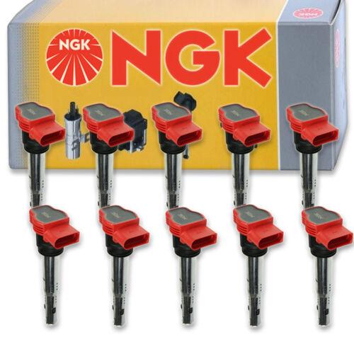 10 pcs NGK 48728 Ignition Coil for U5014 ZSE032 2505-300568 E1029 673-9302 sa