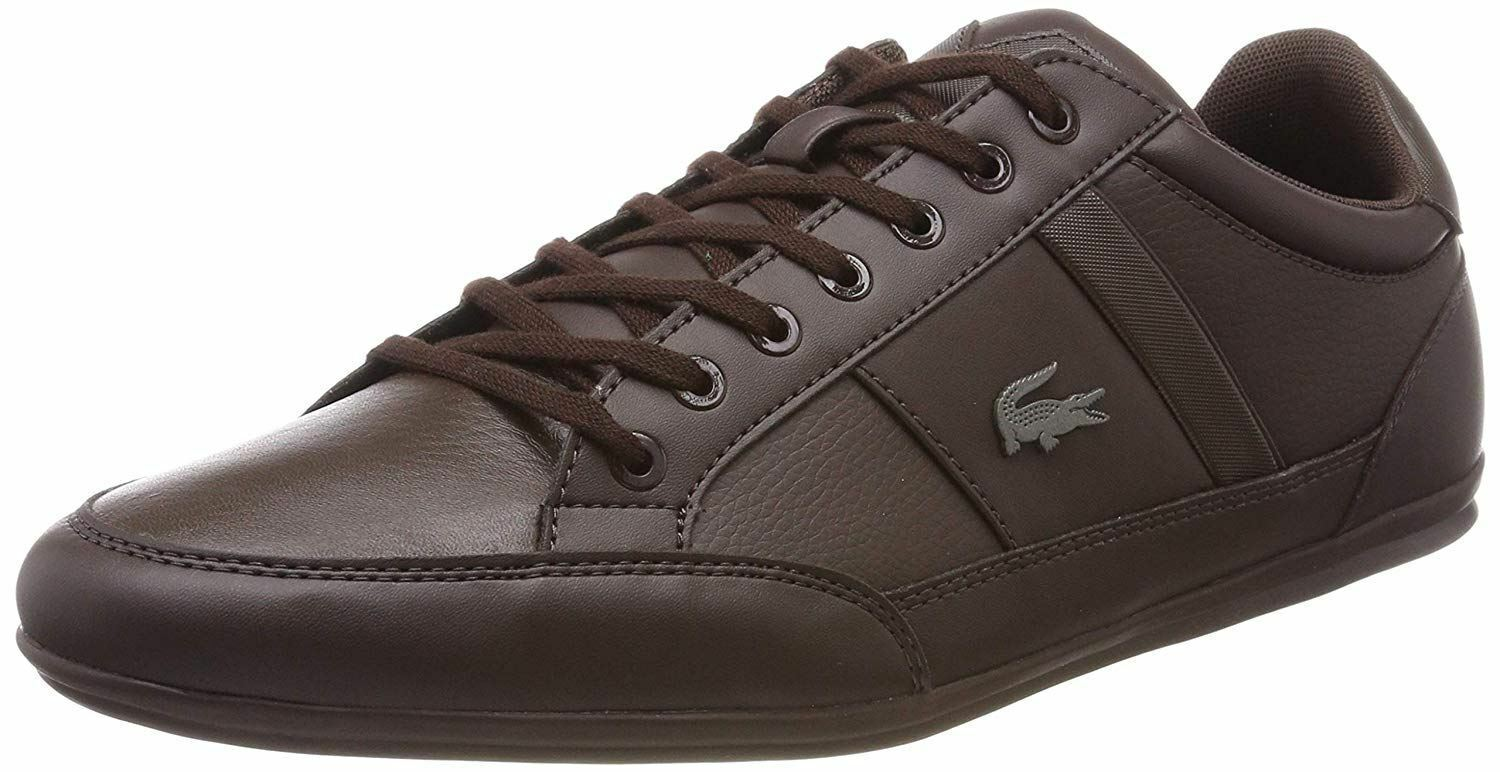 Lacoste Chaymon BL 1 Dark marron Leather hommess Trainers